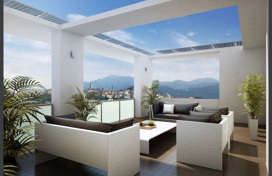 Nuova costruzione vendita attico cantiere bergamo for Attico bergamo vendita