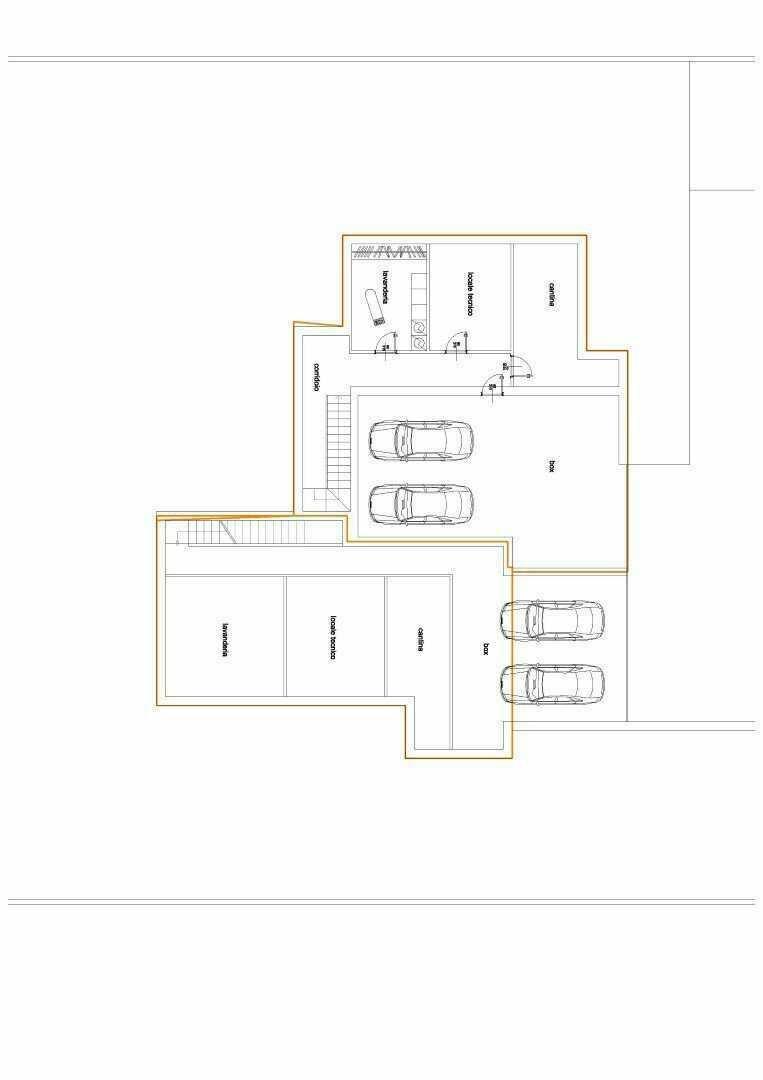 planimetria nuova costruzione vendita villa bifamiliare